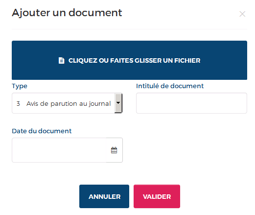 ajout de document
